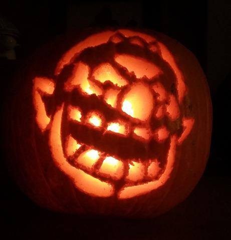 wario pumpkin